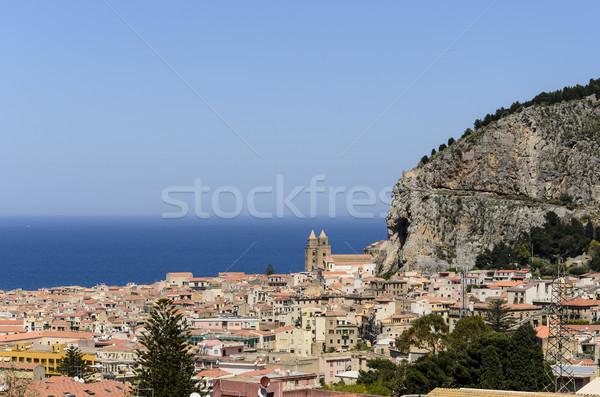 Sicilia Italia casa ciudad paisaje iglesia Foto stock © boggy
