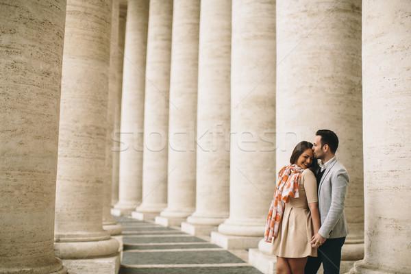 愛する カップル 広場 バチカン 女性 男 ストックフォト © boggy