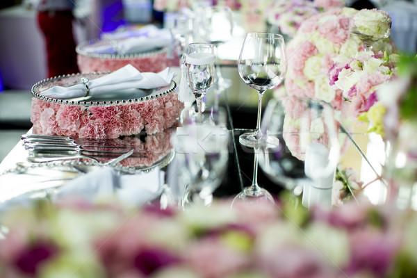 高級 結婚式 装飾 表 表示 デザイン ストックフォト © boggy