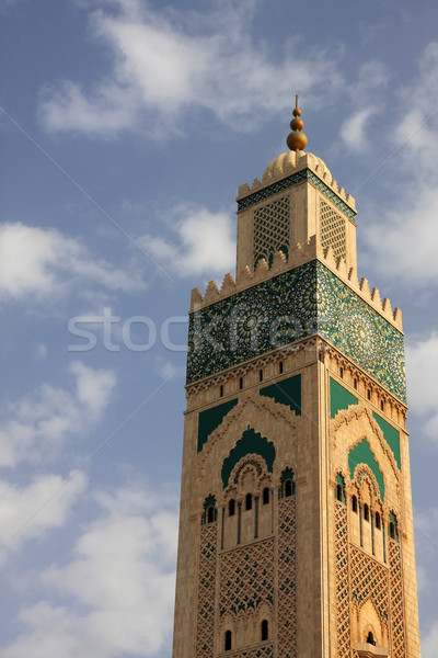 Mosquée Casablanca Maroc ciel Photo stock © boggy