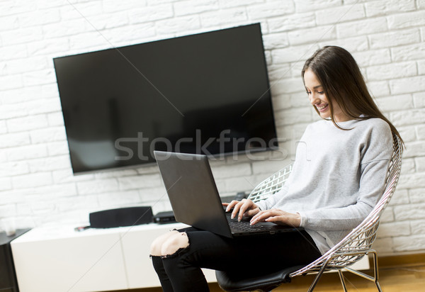 Woman with lap top Stock photo © boggy