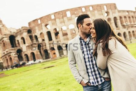 Colosseum Roma İtalya kadın Stok fotoğraf © boggy