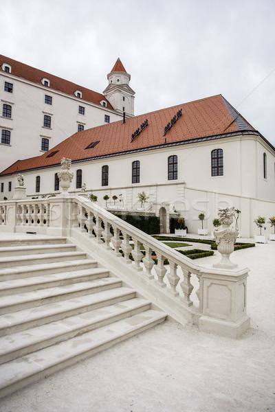 Bratislava château Slovaquie vue bâtiment paysage Photo stock © boggy