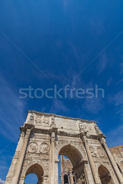 Arch Roma dettaglio Italia cielo marmo Foto d'archivio © boggy