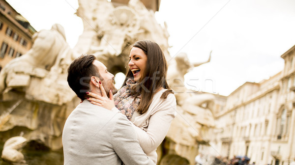 Loving couple in Rome , Italy Stock photo © boggy