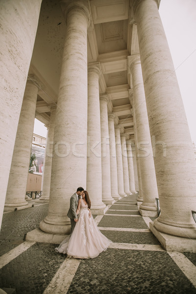 Wedding couple in Vatican, Rome, Italy Stock photo © boggy
