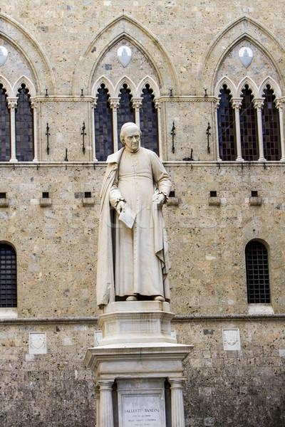 Statue of Sallustio Bandini at Piazza Salimbeni in Siena Stock photo © boggy