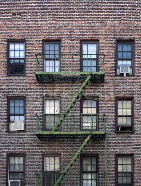 Old apartment building Manhattan, New York City Stock photo © boggy