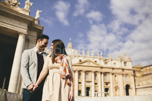 Loving couple in the Vatican, Italy Stock photo © boggy