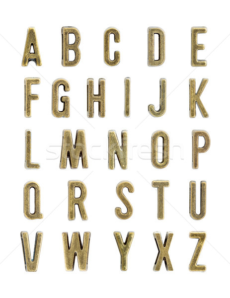 Miedź litery zestaw vintage odizolowany biały Zdjęcia stock © boggy