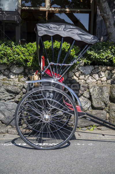 Rickshaws wheel on the street of Arashiyama, Kyoto, Japan Stock photo © boggy