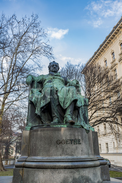 Goethe Statue in Vienna, Austria Stock photo © boggy