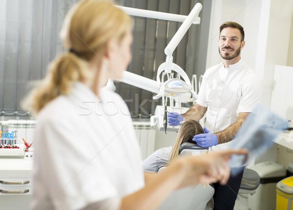 歯科 スペシャリスト X線 歯 表示 幸せ ストックフォト © boggy