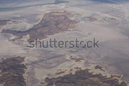 Zout meer Iran luchtfoto natuur landschap Stockfoto © boggy