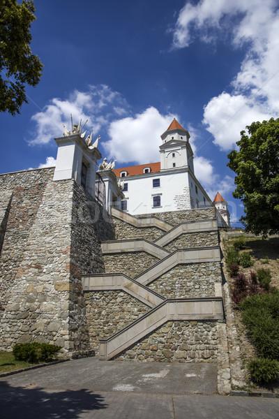 Kastély Szlovákia közelkép fal építészet fehér Stock fotó © boggy