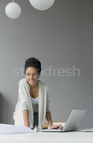 Ufficio business computer uomo lavoro Foto d'archivio © boggy