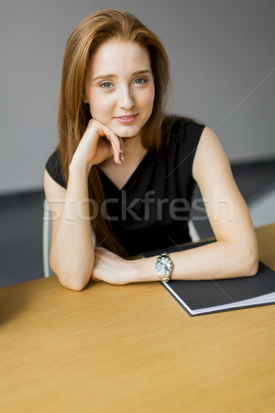 Young woman in the office Stock photo © boggy