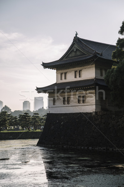Guard tower at Tokyo Imperial Palace in Tokyo Stock photo © boggy