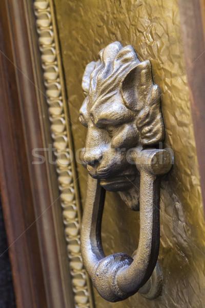 Stok fotoğraf: Kapı · dekoratif · Bina · Metal