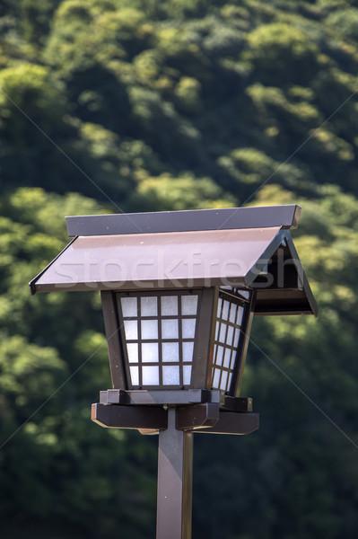 Японский лампы мнение бамбук лес древесины Сток-фото © boggy