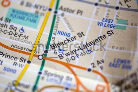 New York City map Stock photo © boggy