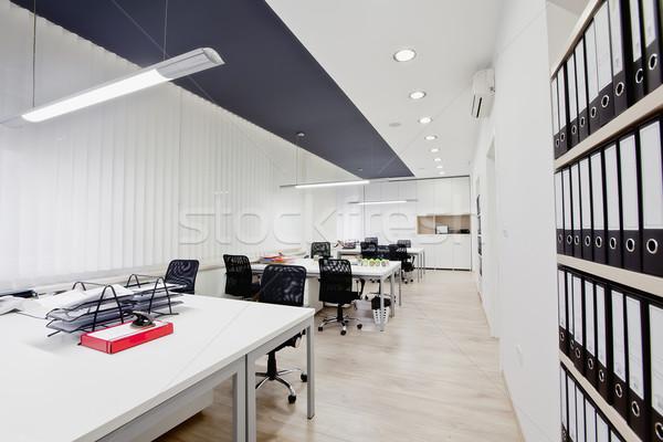 ストックフォト: 現代 · オフィス · インテリア · 木材 · 壁 · 作業