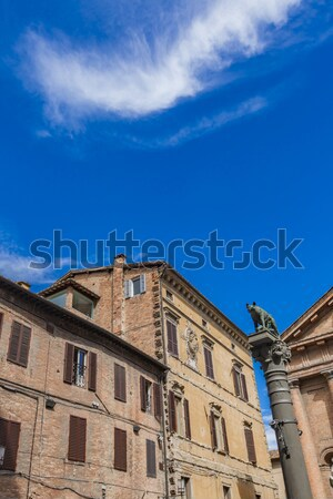 Piazza Tolomei in Siena, Italy Stock photo © boggy