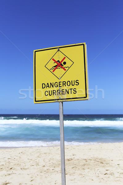 опасный знак пляж воды природы Сток-фото © boggy