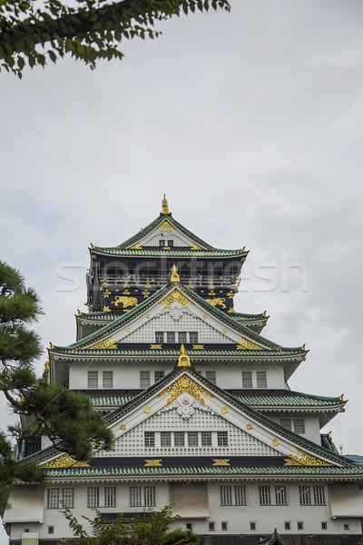 Osaka kale Japonya görmek Bina duvar Stok fotoğraf © boggy