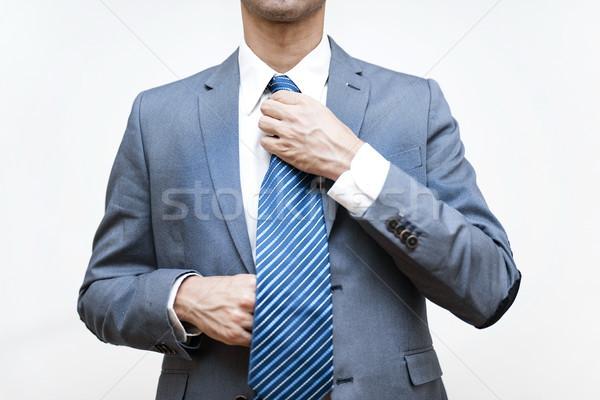 Jóvenes empresario empate hombre fondo traje Foto stock © boggy