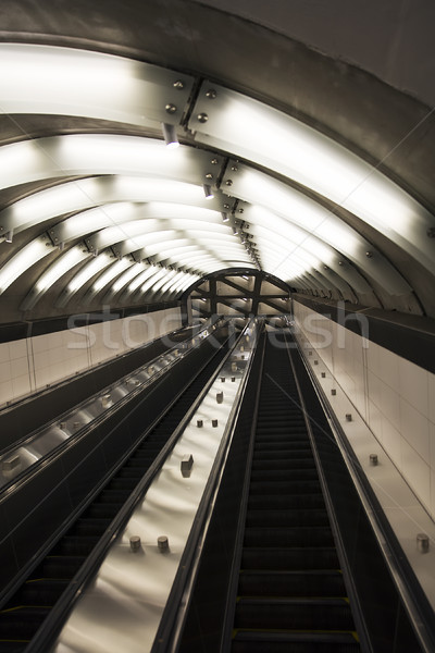 Metro detay boş şehir tren Stok fotoğraf © boggy