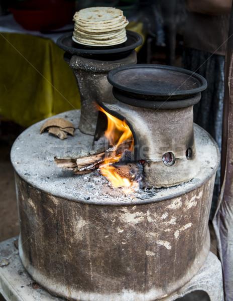 Geleneksel iki pot soba detay Metal Stok fotoğraf © boggy
