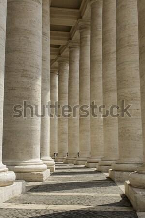 квадратный Ватикан подробность здании способом колонки Сток-фото © boggy
