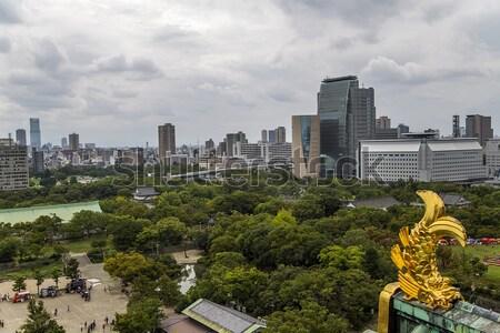 Osaka Japonya panoramik görmek modern mimari gece hayatı Stok fotoğraf © boggy
