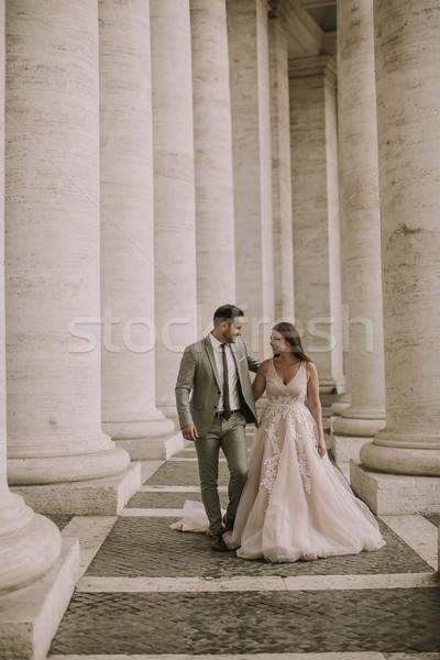 ślub para watykan Rzym Włochy młodych Zdjęcia stock © boggy