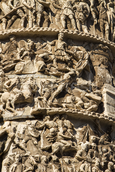 Kolom Rome detail Italië standbeeld antieke Stockfoto © boggy