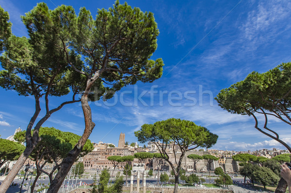 View at Trajan market in Rome Stock photo © boggy