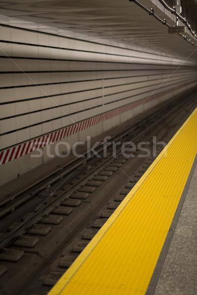 Nouvelle métro gare détail ville transport Photo stock © boggy