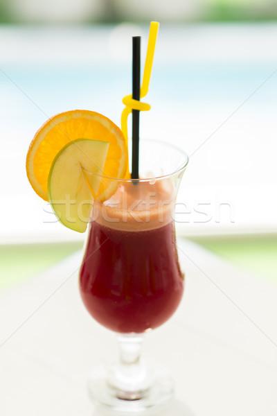 Beet and orange organic  fresh juice Stock photo © boggy
