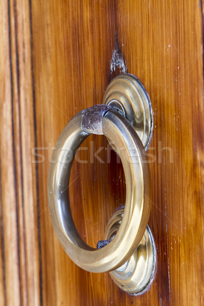 Old decorated door knocker Stock photo © boggy