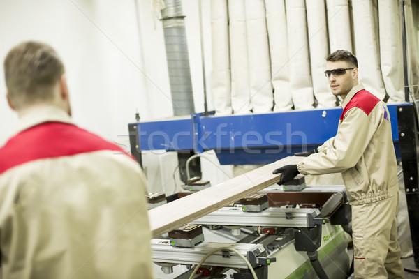 Homme travailleurs travail meubles industrie coutume Photo stock © boggy