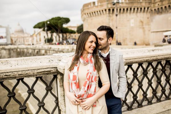 любящий пару Рим Италия человека лет Сток-фото © boggy
