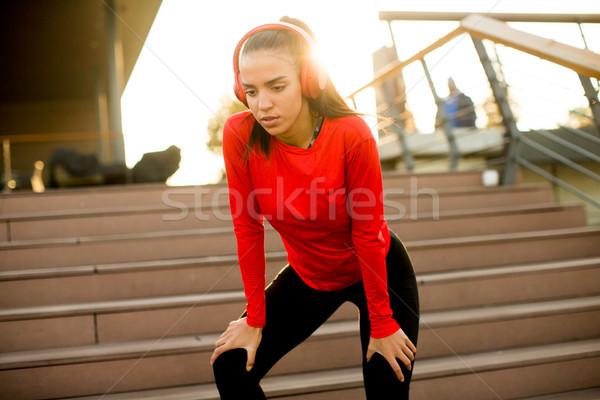 Runner break jogging esterna Foto d'archivio © boggy
