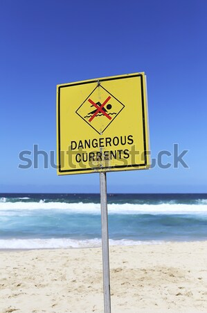 Dangerous currents sign Stock photo © boggy