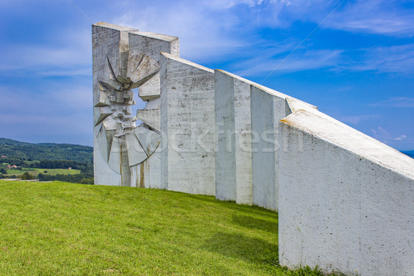Fighters Workers Battalion Monument on Kadinjaca, Serbia Stock photo © boggy