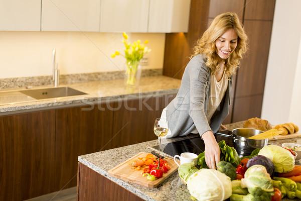 современных кухне продовольствие улыбка Сток-фото © boggy