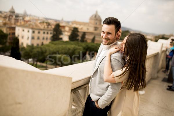 Kochający para Rzym Włochy człowiek miasta Zdjęcia stock © boggy