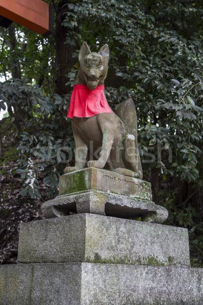 Kyoto Japonya tilki heykel ibadet Stok fotoğraf © boggy