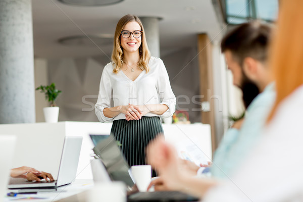 Business people discussing a strategy and working together in of Stock photo © boggy