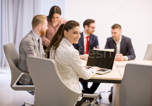 Business people brainstorming in office during conference Stock photo © boggy